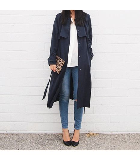 Andyheart is wearing: H&M coat, Zara heels, Everlane shirt, Ksubi jeans, Jerome Dreyfuss bag.