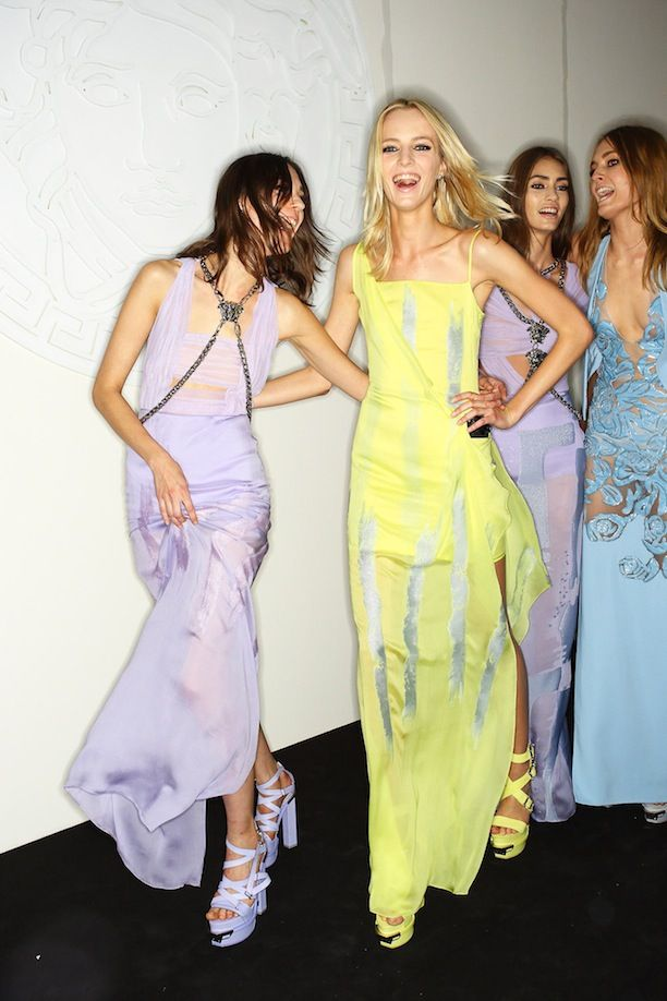 MFW Backstage: Versace S/S 2014