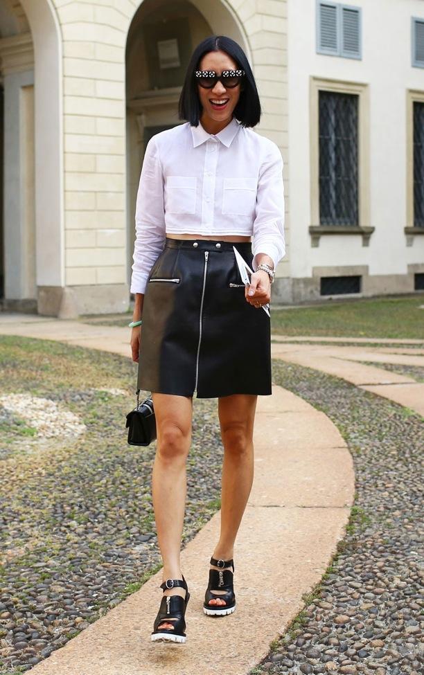 MFW Street Style: Black + White
