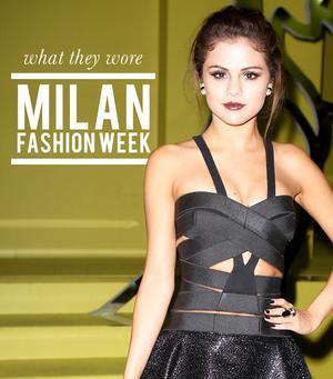 What Blake Lively, Selena Gomez, & More Wore To Milan Fashion Week