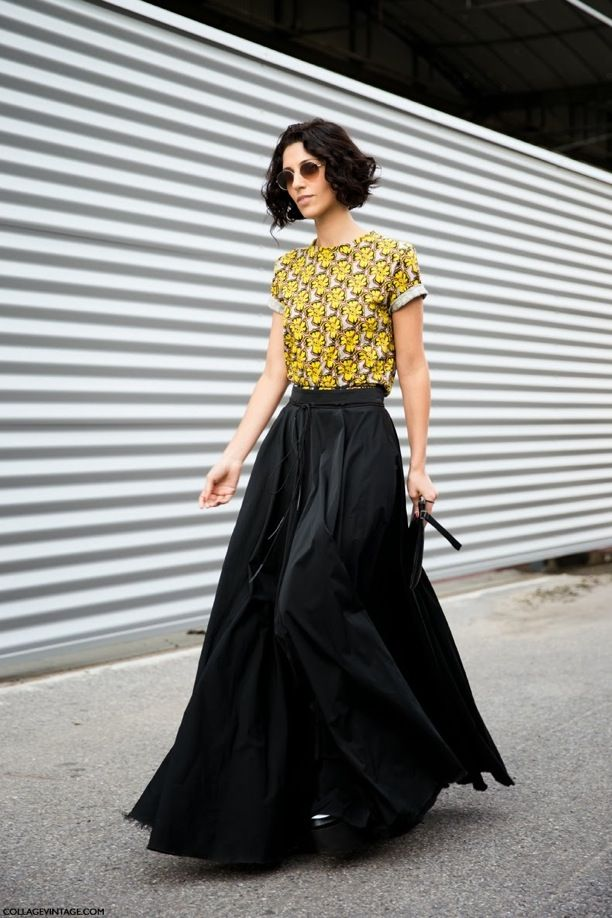 Black Statement Maxi Skirts, Two Ways: See The Street Style Snaps