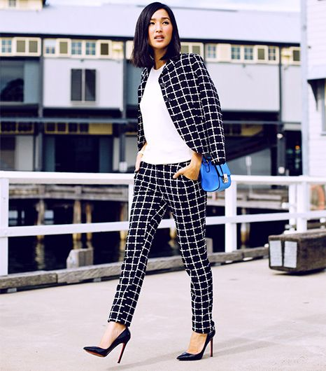Nicole Warne of Gary Pepper Vintage  A slightly cropped blazer, like the Canadian blogger's ASOS checked version, is great for showing off a small waist and creates curves for a boyish...