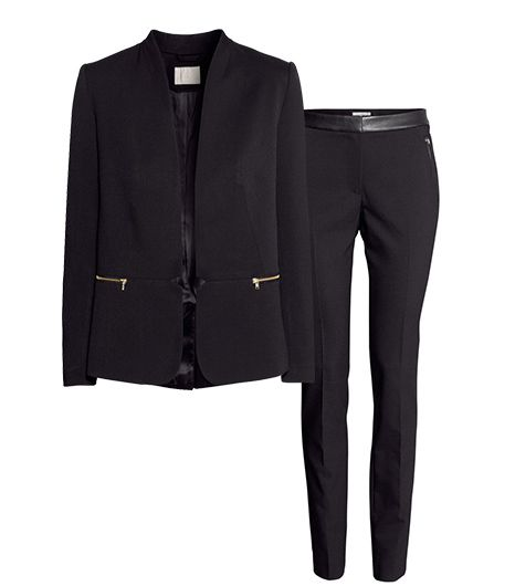 H&M Fitted Jacket ($50); H&M Slim-Fit Pants ($35).
