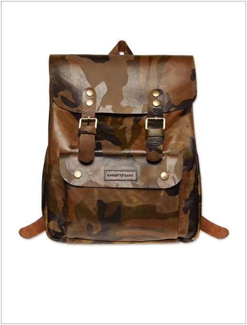 The Remsen Backpack ($795) in Camouflage Leather