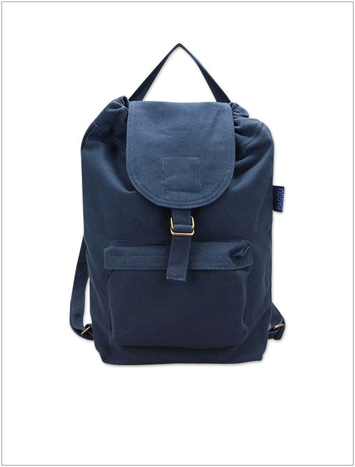 Canvas Pocket Backpack ($32) in Navy