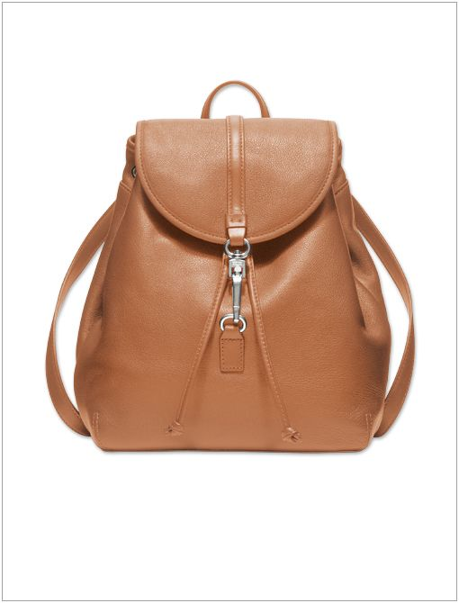 Studio Legacy Leather Backpack ($258) in Silver/Tan