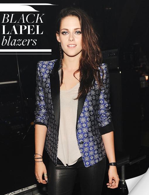 Black Lapel Blazers