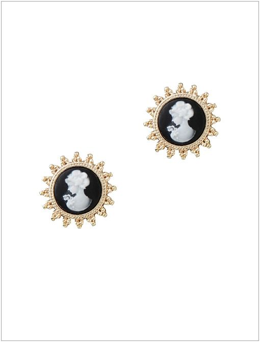 Cameo Stud Earrings ($28)