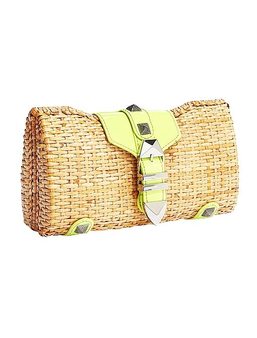 Fairy Tale Clutch ($195) in Natural/Yellow