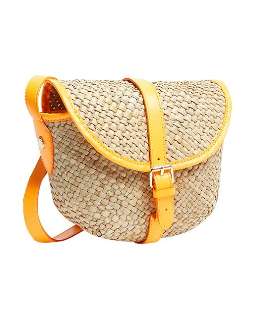 Preppy Straw Canteen Bag ($158) in Fluoro Orange