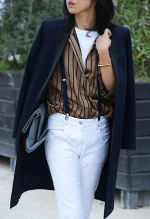 Two (Chic!) Ways To Rock Suspenders, Straight From Paris Fashion Week