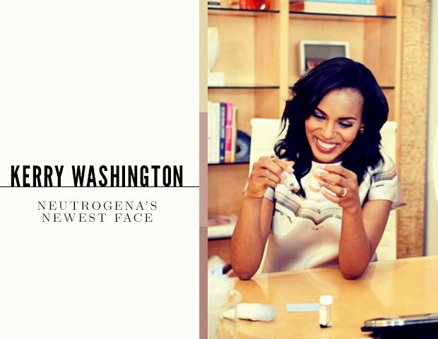 Kerry Washington Joins The Neutrogena Team