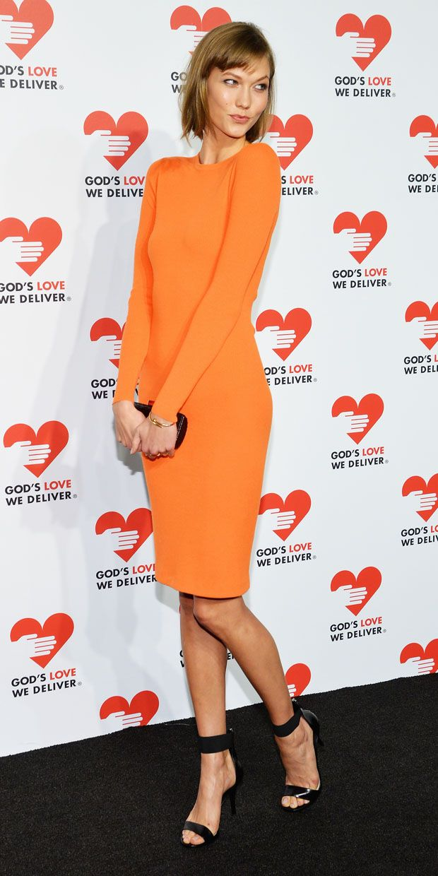 Karlie Kloss	shines bright in Michael Kors.