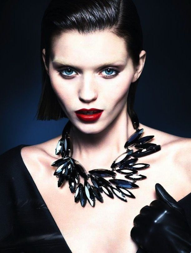 A Brunette Abbey Lee Kershaw Stars in Gucci's Dark F/W 2013 Campaign