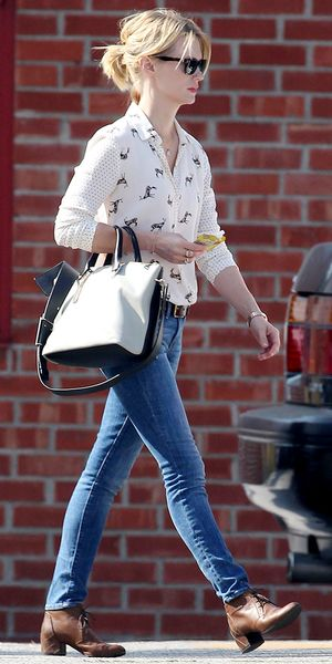 January Jones takes her new Chloe bag out for a spin.