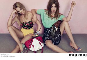 French Beauties Léa Seydoux and Adèle Exarchopoulos Star In Miu Miu's Resort 2014 Campaign