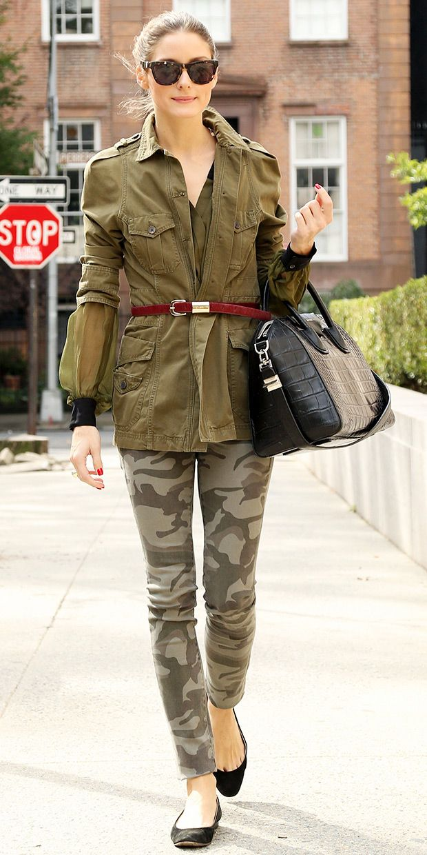 Olivia Palermo Does Camouflage For the Weekend.