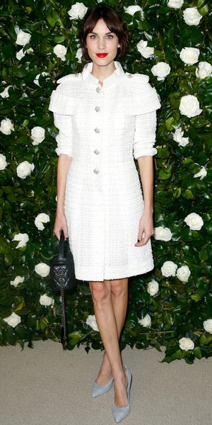 Alexa Chung Embraces Winter Whites In Chanel.
