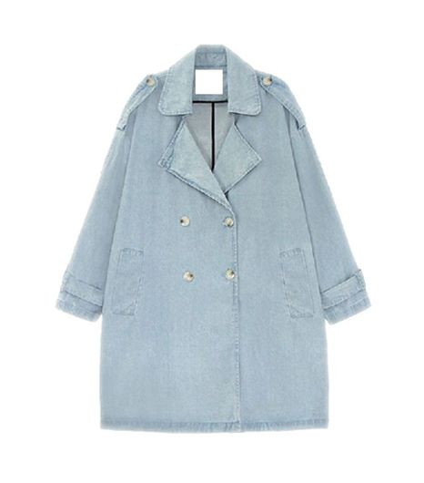 Choies Denim Oversize Trench ($94)