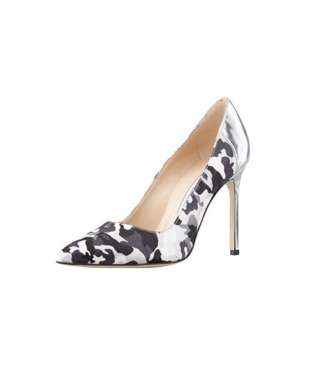 The subtle flash of silver on the heel means these pumps can seamlessly take you from the office to cocktails.   