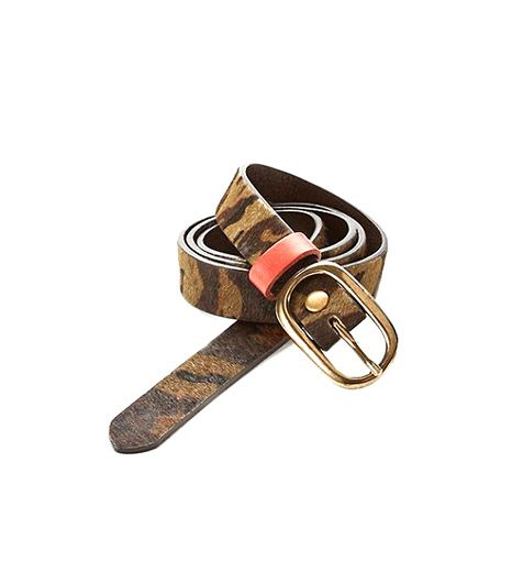 Replace your black skinny belt with this pony hair incarnation. 