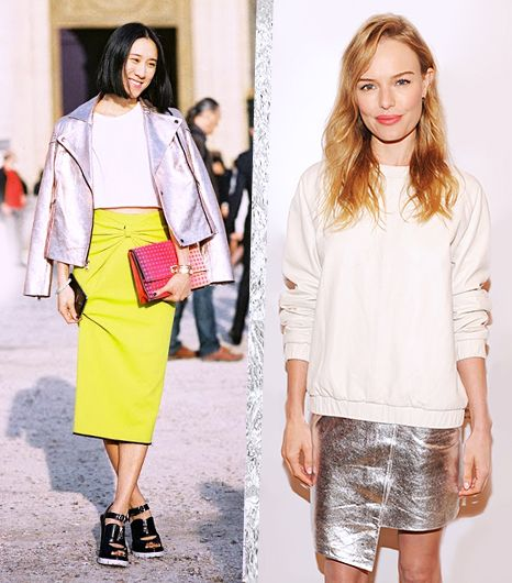 Metallics: Fresh Styling Ideas