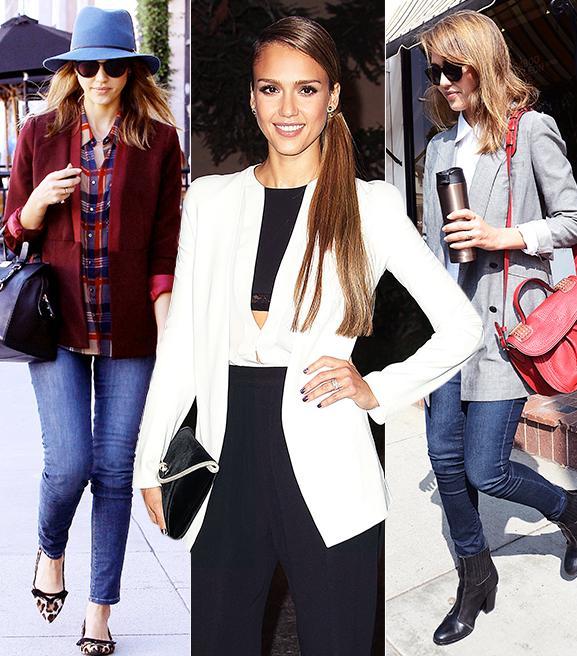 Jessica Alba's 7 Tips For Wearing a Blazer