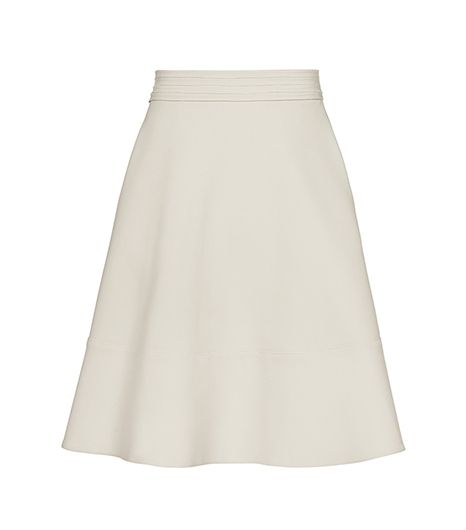 Waistband Detail Flared Skirt