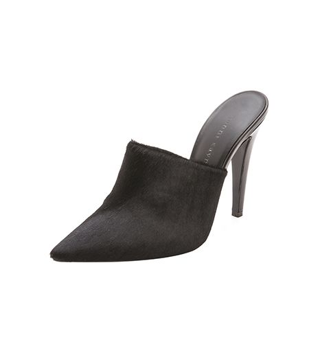 Haircalf Pointed Mules