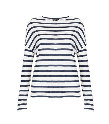 Linen Stripe Long Sleeve Tee