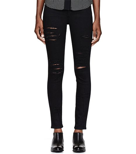 Black Ripped Le Color Skinny De Jeanna Jeans