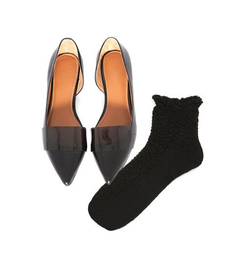 Pixie Market Patent Pointy Flats ($112)