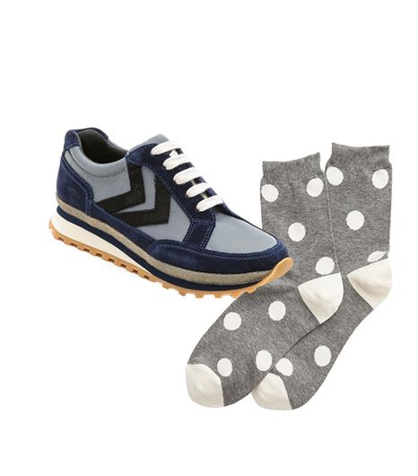 Marc By Marc Jacobs Lace Up Sneakers ($248) in Grey/Blue/Black