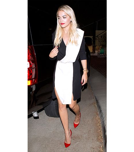 7. Paneled Dress  For date night at Hakkasan restaurant in Beverly Hills, Rita Ora pulled out everyone's favorite slimming secret weapon: the paneled dress. The dark sides of her Vionnet...