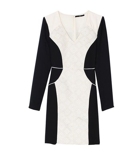 Tibi Embroidered Panel Dress ($595)
