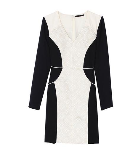 Tibi Embroidered Panel Dress ($595)