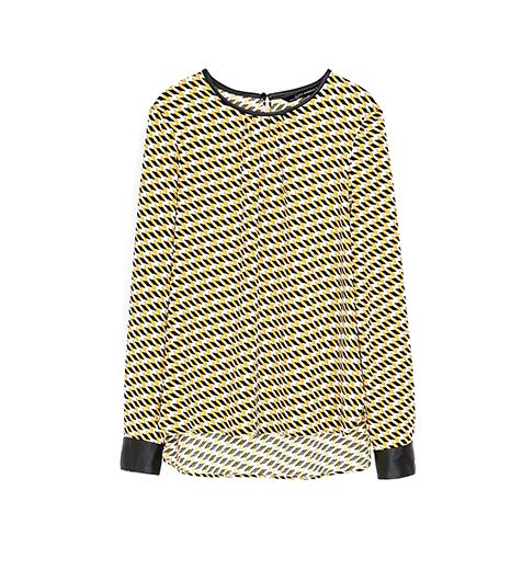 Zara Printed Top ($70)