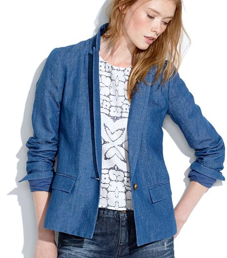 Madewell Tailored Blazer In Chambray ($85)