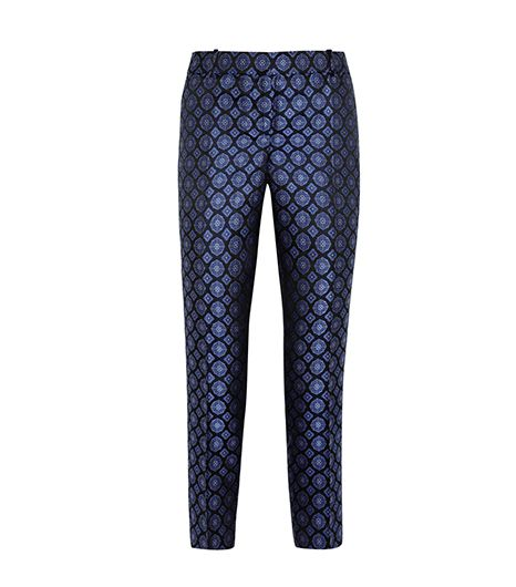 J.Crew Collection Café Silk-Jacquard Capri Pants ($200)