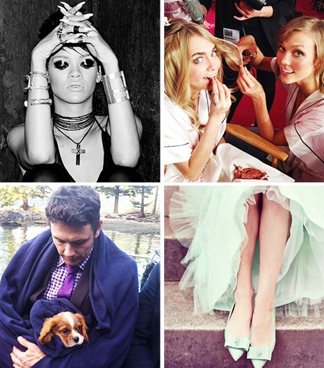 James Franco's Puppy Love, Victoria Beckham's Shoe Fetish, And More Celeb Snapshots