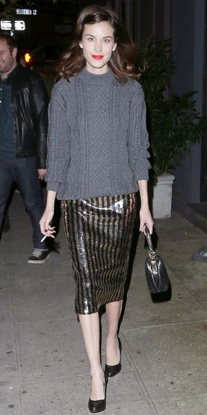 Alexa Chung Steps Out In NYC.