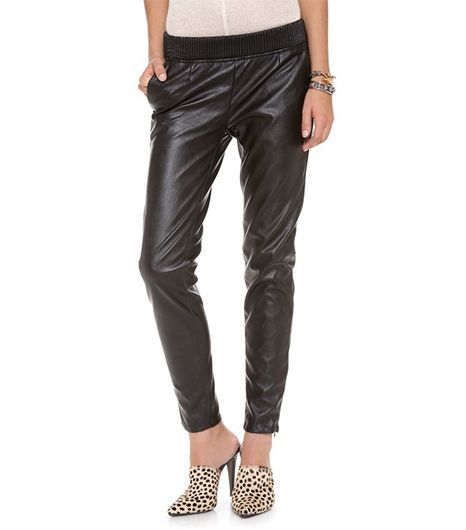 Slouchy Vegan Leather Trousers