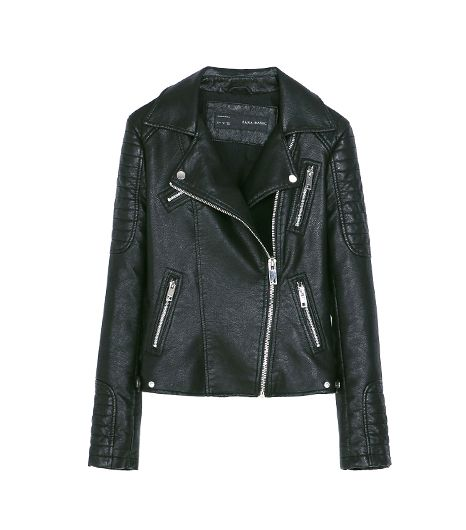 Zara Motorcycle Jacket With Zips ($119)