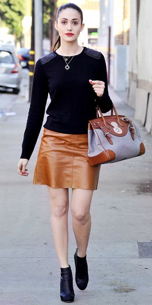 Emmy Rossum heads to the Shameless set in Chicago.