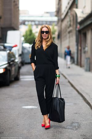 Black Jumpsuits And Suede Pumps, Get Inspired With These Street Style Snaps