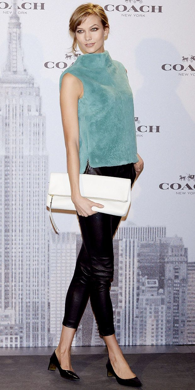 Karlie Kloss Celebrates Coach Boutique In Madrid.