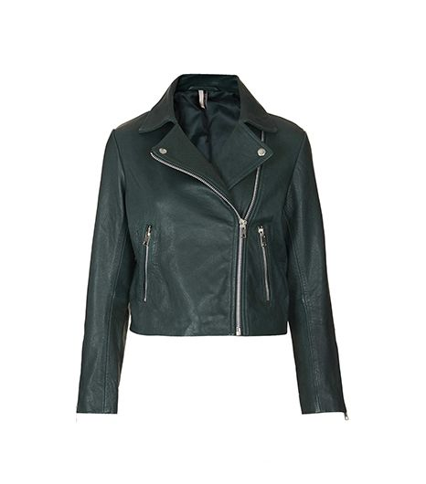 Topshop Boxy Leather Biker Jacket ($370)