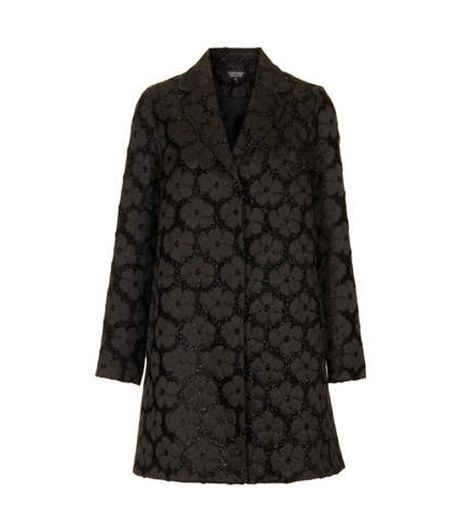 Topshop Daisy Lurex Swing Coat