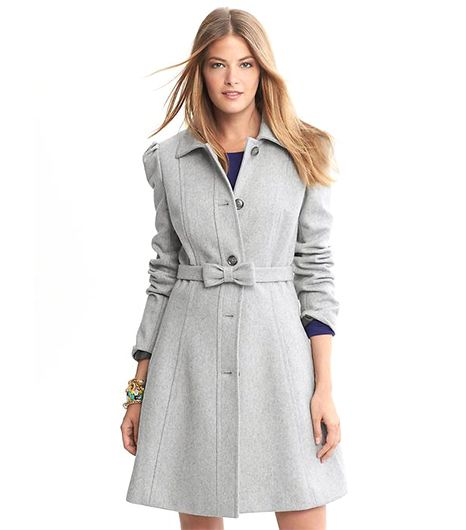 Banana Republic Fit-and-Flare Bow Coat