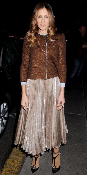 Sarah Jessica Parker Proves All That Glitters Is Gold.